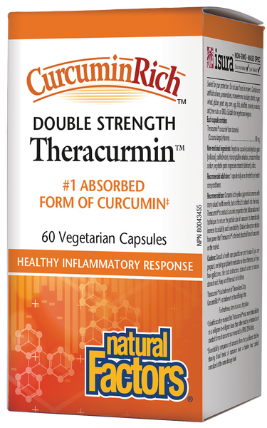 Natural Factors Double Strength Theracurmin 60 Caps
