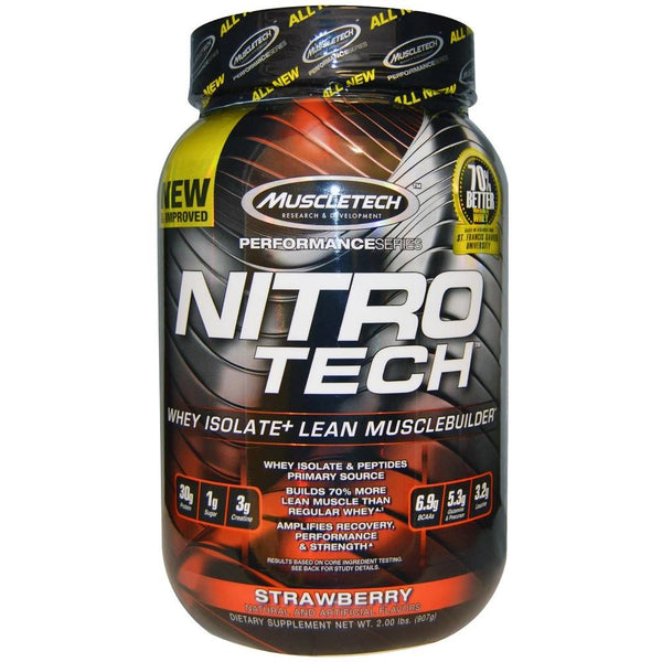 MuscleTech Nitro Tech Protein Strawberry 2lbs