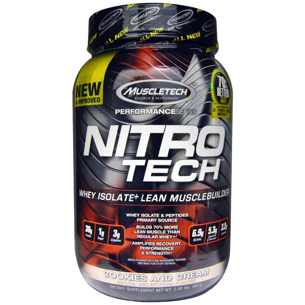 MuscleTech Nitro Tech Protein Cookies & Cream 2lbs