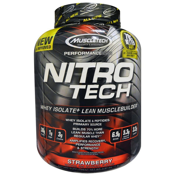 MuscleTech Nitro Tech Protein Strawberry 4lbs