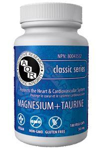 A.O.R Magnesium + Taurine 365mg 180Vcaps