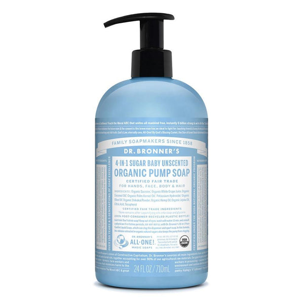 Dr. Bronner Organic Pump Soap Baby Unscented 710ml