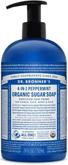 Dr. Bronner Organic Sugar Soaps Peppermint 710ml