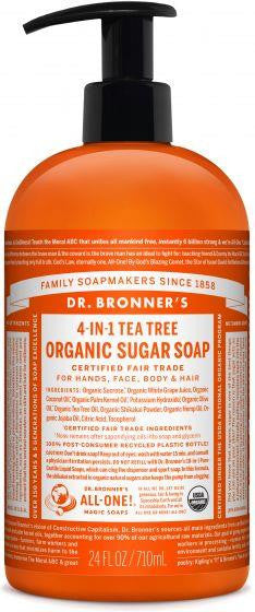 Dr. Bronner Organic Sugar Soaps Tea Tree 710ml