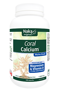 Naka Coral Calcium with Magnesium & Vitamin D 180caps