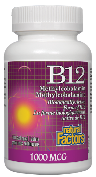 Natural Factors B12 Methyl 1000MCG 210 Sublingual Tablets