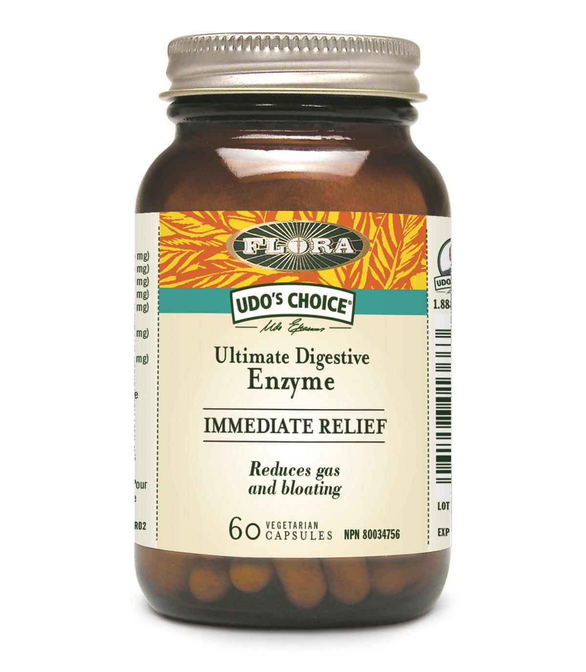 Flora Immediate Relief  Digestive Enzyme 60Vcaps