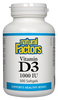 NATURAL FACTORS VITAMIN D3 1000IU 500SG