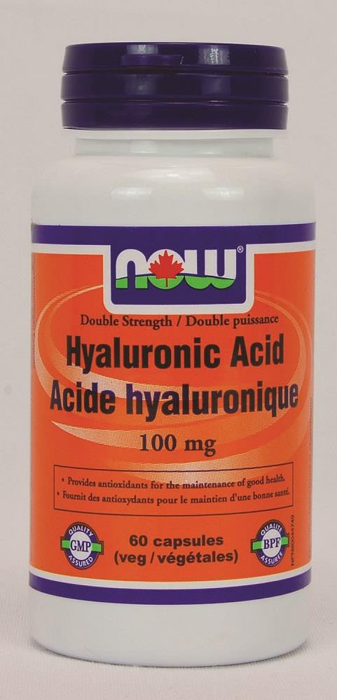 NOW Hyaluronic Acid 100mg 60Vcaps
