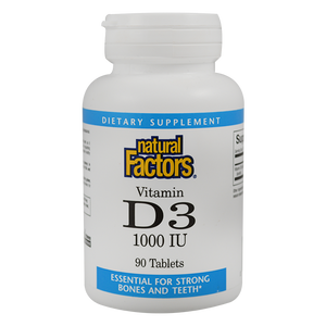NATURAL FACTORS VITAMIN D3 1000IU 90 TABLET