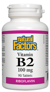NATURAL FACTORS VITAMIN B2 90TABS