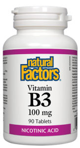 NATURAL FACTORS VITAMIN B3 90TABS