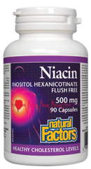 "Natural Factors ""No Flush"" Niacin 500Mg 90Cap"