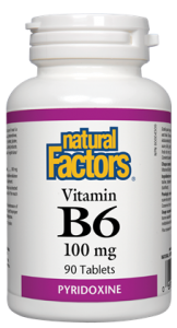 NATURAL FACTORS VITAMIN B6 90 TABS