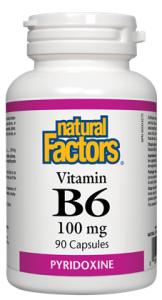 NATURAL FACTORS B6 100MG 90 CAPSULES
