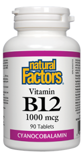 NATURAL FACTORS VITAMIN B12 1000MCG 90 TABLETS