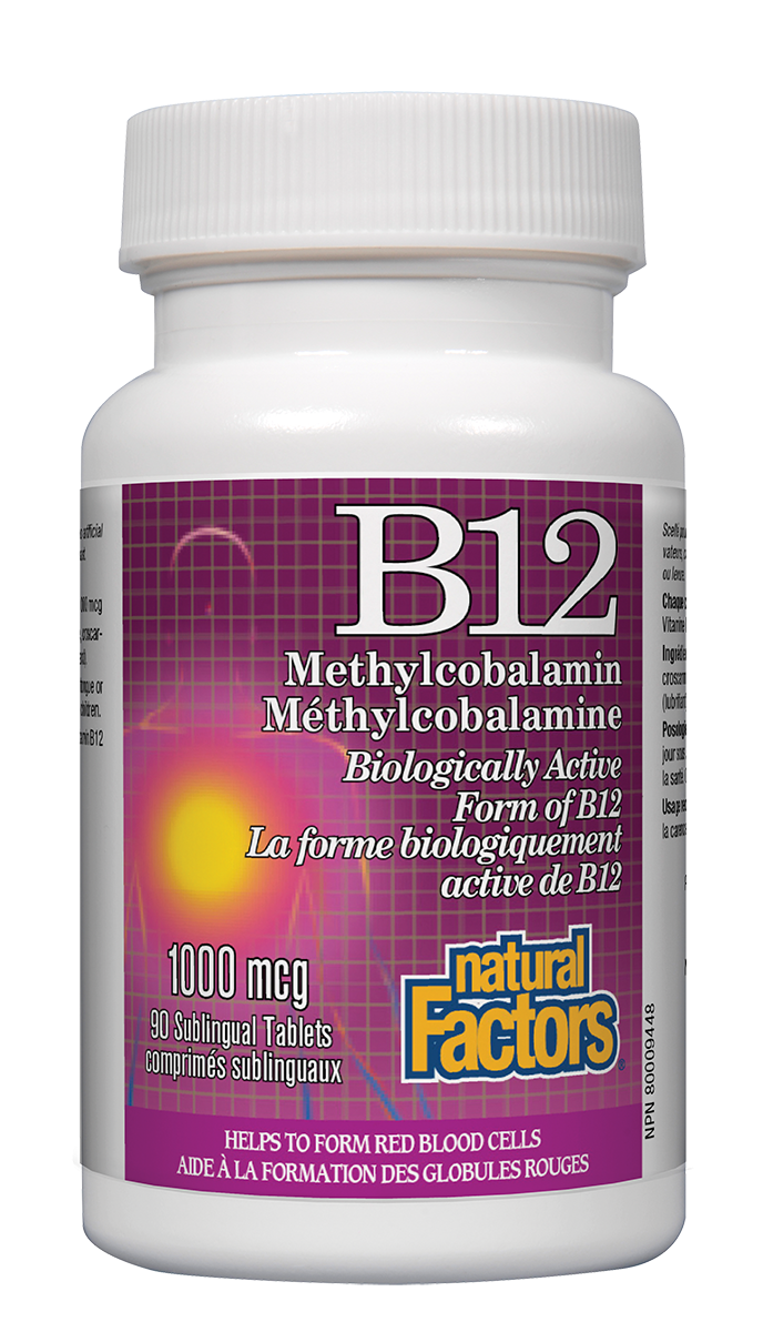 NATURAL FACTORS B12 METHYL 1000MCG 90 SUBLINGUAL TABLETS