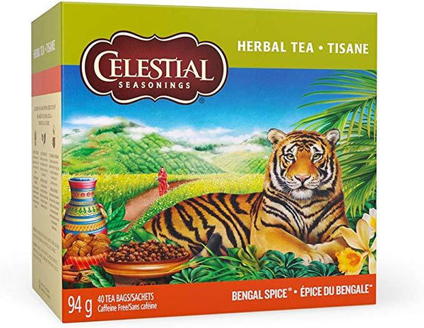 Celestial Seasonings Bengal Spice Herbal Tea 40 Bags