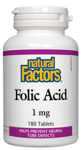 Natural Factors Folic Acid 1MG 90Tab