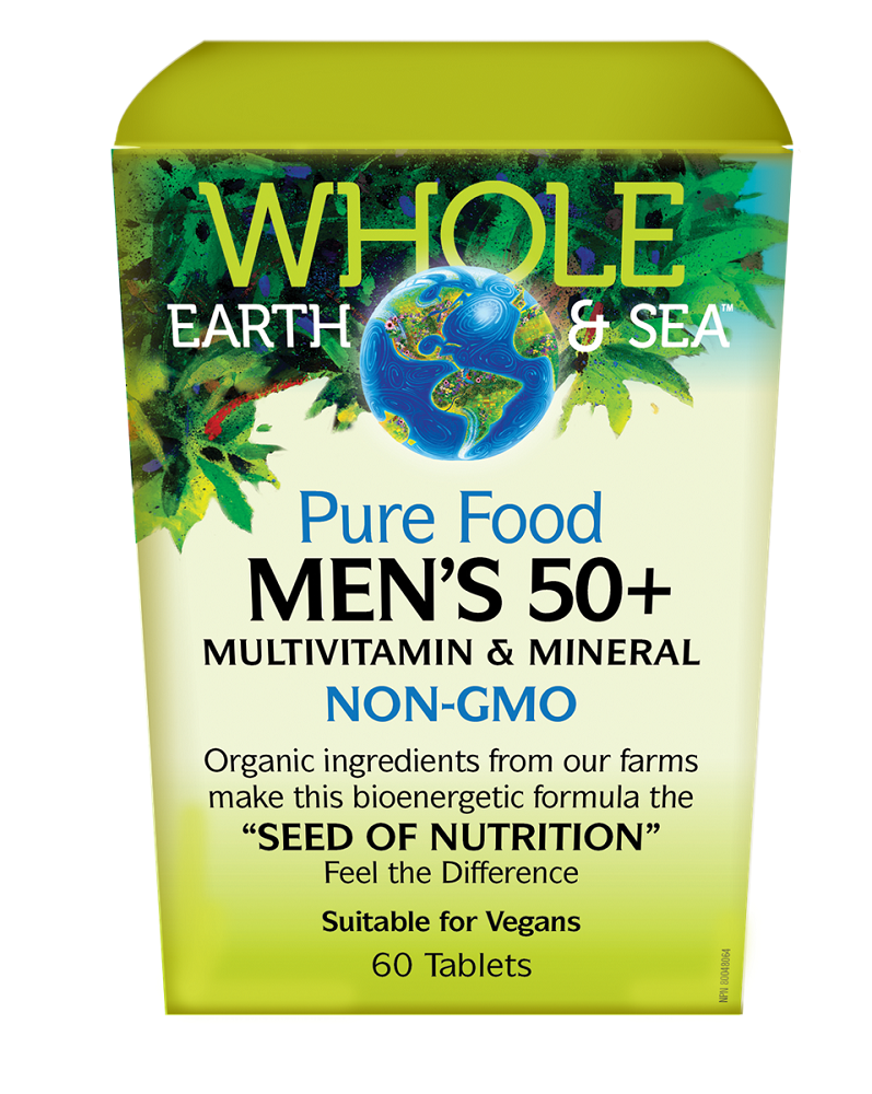 Whole Earth and Sea Pure Food Men's 50+ 60 Tabs