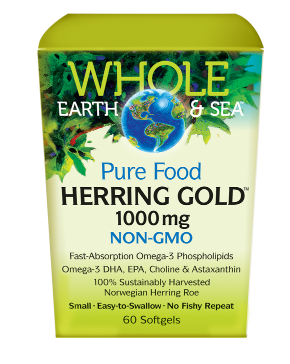 Whole Earth and Sea Herring Gold 1000MG 60SG