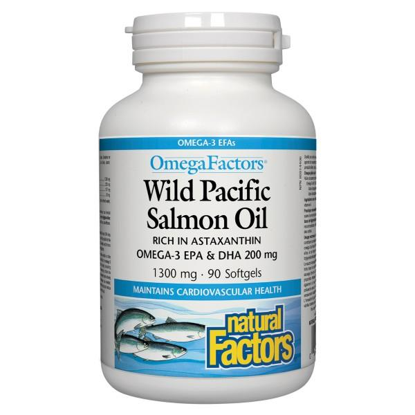 Natural Factors Wild Salmon Oil 90softgels