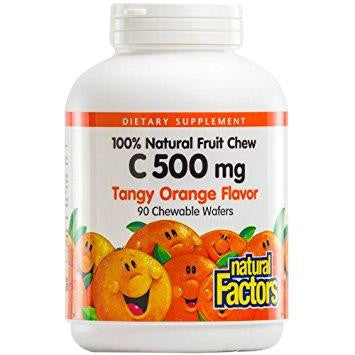 NATURAL FACTORS C 500 TANGY ORANGE