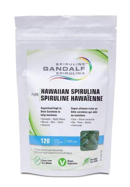 Gandalf Spirulina 1000mg 120tabs