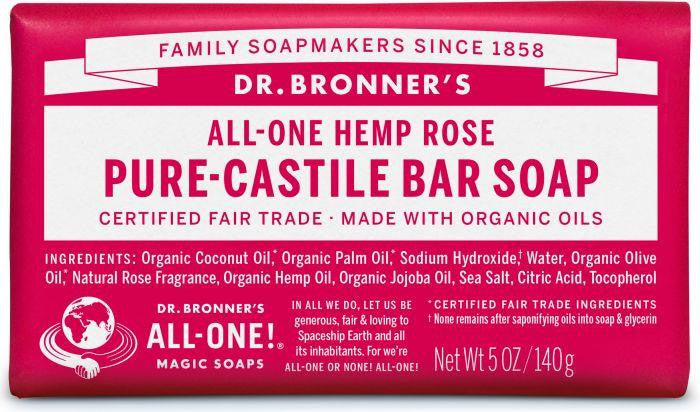 Dr. Bronner Pure-Castille Bar Soap Rose