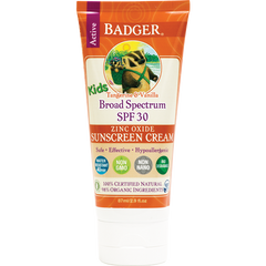 Badger SPF 30 Kids Sunscreen Cream 87ml