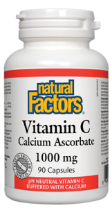 NATURAL FACTORS VITAMIN C 1000MG 90CAPSULES (CALCIUM ASCORBATE)