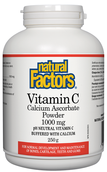 NATURAL FACTORS CALCIUM ASCORBATE 250G