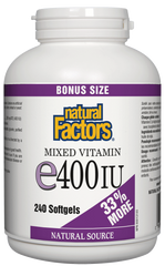 NATURAL FACTORS VITAMIN E MIXED 400IU 240 SOFTGEL BONUS SIZE