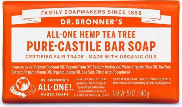 Dr. Bronner Pure-Castile Bar Soap Tea Tree 140g