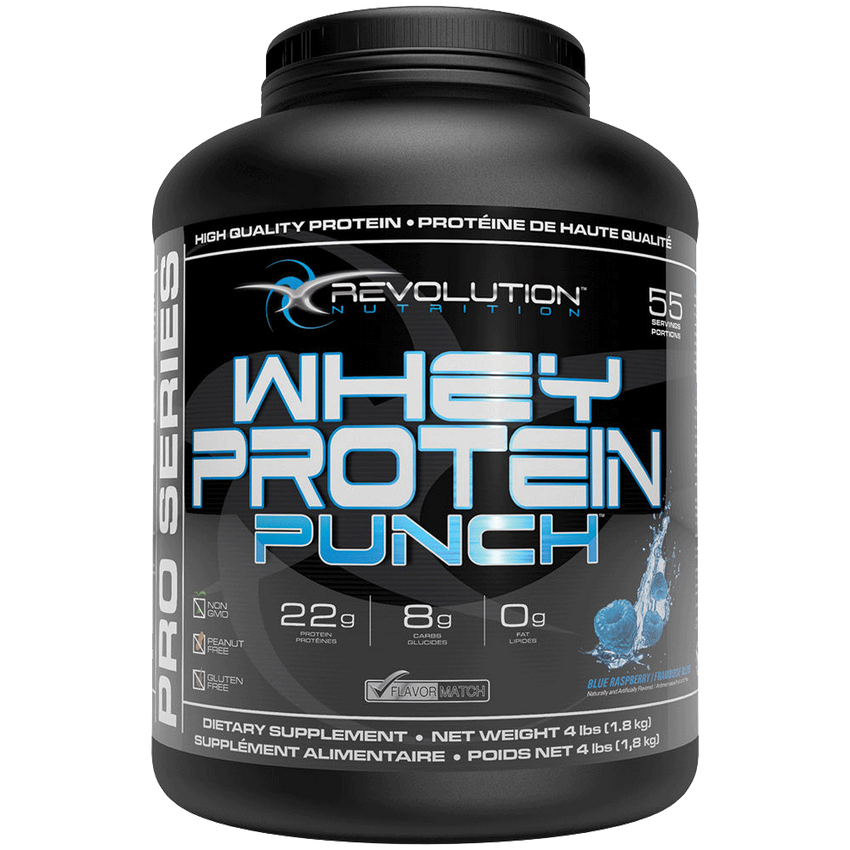 Revolution Whey Protein Punch Blue Raspberry 4lbs