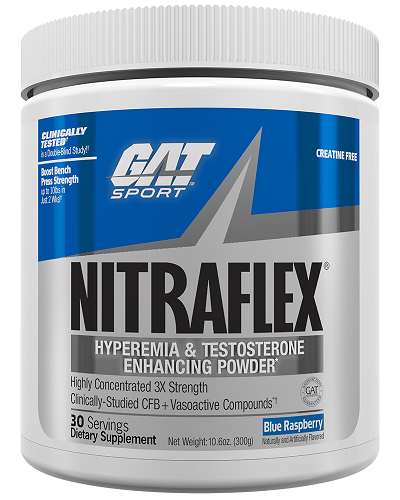 GAT NitraFlex Pre-Workout Blue Raspberry 300g