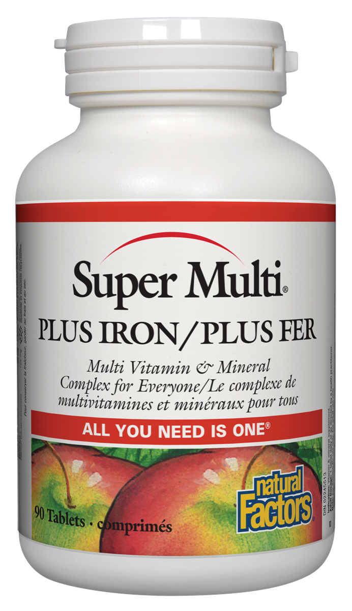 NATURAL FACTORS SUPER MULTI PLUS IRON P0TABS