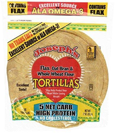 Joseph's Flax Oat Bran and Whole Wheat Tortillas 255G