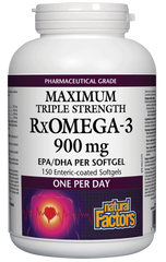 Natural Factors RxOmega-3 Triple Strength 900Mg 150SG