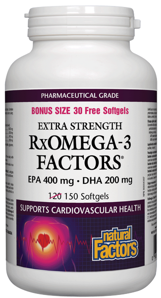 Natural Factors RxOmega-3 EPA 400Mg DHA 500Mg 150SG