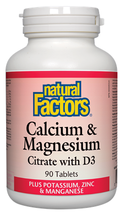 Natural Factors Cal-Mag-D 90Tab