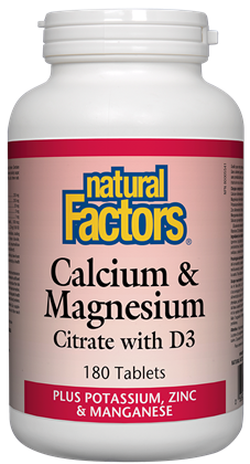 Natural Factors Cal-Mag-D3 180Tab