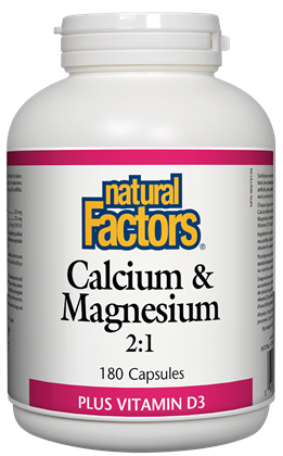 Natural Factors Cal-Mag 2:1 180Cap