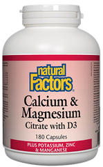 Natural Factors Cal-Mag-D3 180Cap