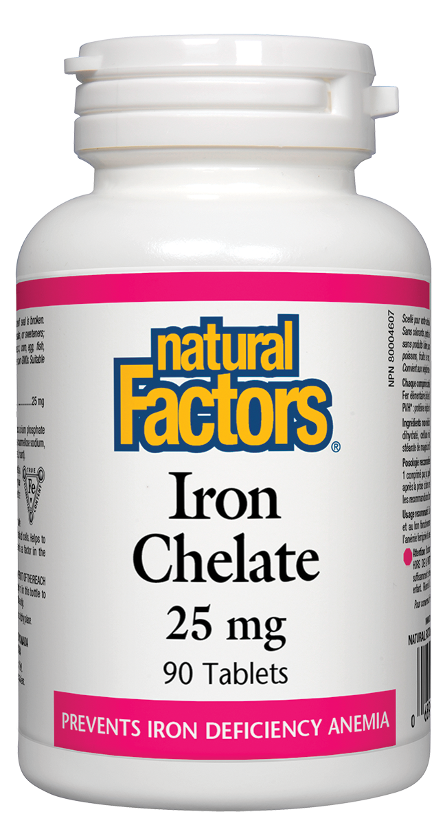 Natural Factors Iron Chelate 90Tab