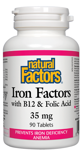 Natural Factors Iron Factors 90Tab