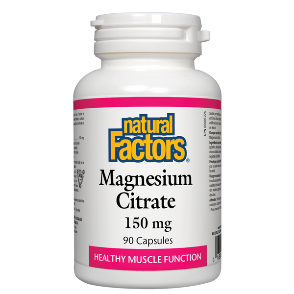 Natural Factors Magnesium Citrate 90Cap