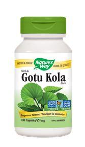 Nature's Way Gotu Kola Herb 475mg 100caps
