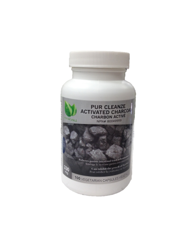 PUR NATURALS PUR CLEANZE ACTIVATED CHARCOAL 100 VEGI-CAPS