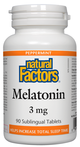 Natural Factors Melatonin 3Mg 90 Tab